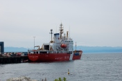 CCGS Sir Wilfrid Laurier at dock CCG base Victoria, BC.