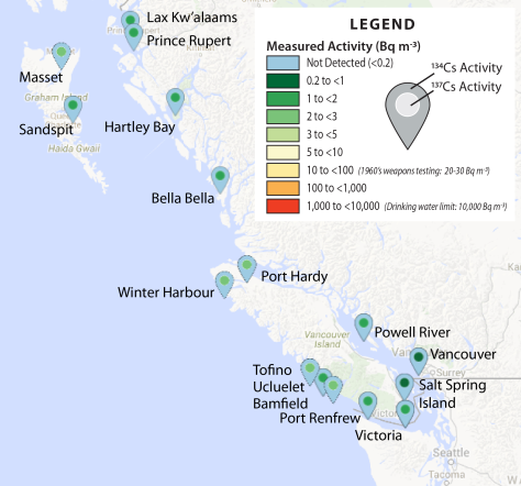 Most recent (October / November 2015) results from the citizen science coastal monitoring network.