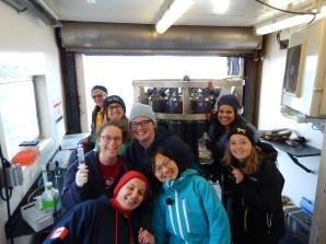 Water sampling crew!