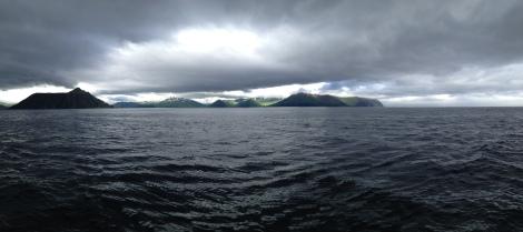 Pulling into Dutch Harbor, AK.