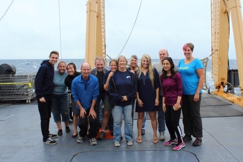 The science team for Line P cruise 2016-08.
