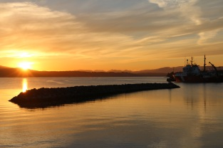 Sunset at Patricia Bay, port of the CCGS John P Tully the night before we set out to sea.