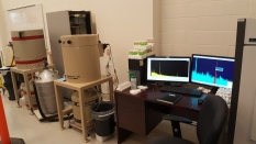 The InFORM bench and gamma spectrometers in the AMS lab.