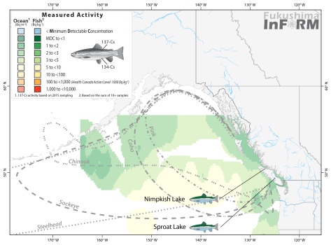 Results from 2016 InFORM salmon monitoring as of October. More results will be added to this map as they become available.