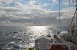 NE Pacific off the stern.